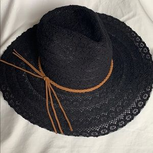 Maurices Black Layered Lace Sun/Day Hat